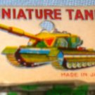 Vintage Japan Mini Tin Lithograph Toy Tanks 1960s