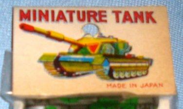 Vintage Japan Mini Tin Lithograph Toy Tanks 1960s