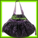 THAI SILK SHOULDER HAND BAG PURPLE HOBO HIPPIE / B103