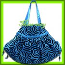 THAI SILK SHOULDER HAND BAG BLUE HIPPIE GYPSY TOTE HOBO / B106