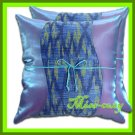 2 THAI SILK THROW CUSHION CASE PILLOW COVER PURPLE TWO-TONE / 1103