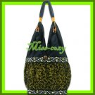 THAI SILK SHOULDER BAG HANDBAG HOBO GOLD EMBROIDERED TOTE / B161