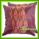 2 THAI SILK CUSHION CASE PILLOW COVER PURPLE-PINK TWO-TONE / 1102