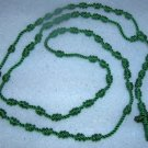 Green Knot Rosary -  Handmade of Nylon Cord