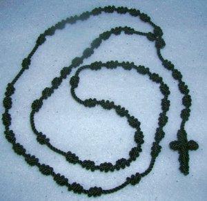 Black Knot Rosary - Handmade of Nylon Cord
