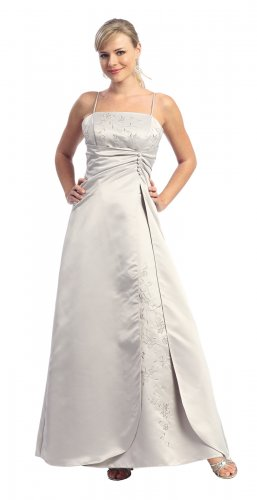 Discount Cheap Silver Bridesmaid Silver Bridesmaid Dress Prom Dress   DiscountDressShop.com 1491NX