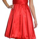 Red/Black Bridesmaid Dress Short Red Prom Dress Red Cocktail Dress | DiscountDressShop.com 2117JU