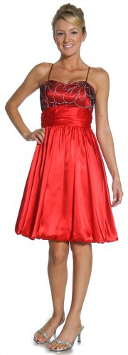 Red/Black Bridesmaid Dress Short Red Prom Dress Red Cocktail Dress | DiscountDressShop.com 2117JU