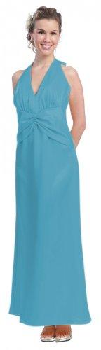 Banana Bridesmaid Dress Cheap Halter Long Banana Formal Dress Prom   DiscountDressShop.com 813SB