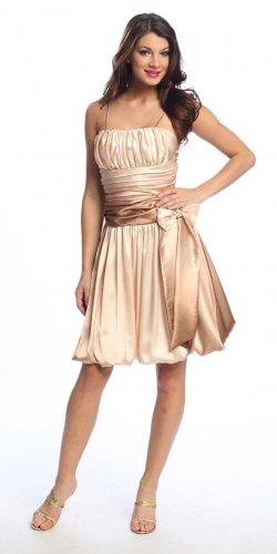 Cheap Gold Cocktail Dress Short Spaghetti Strap Gold Party Dress | DiscountDressShop.com 1058NX