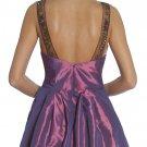 Cheap Plum Dress With Side Pockets Plum Knee Length Dress Cocktail | DiscountDressShop.com 1069JU