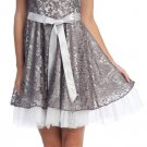 Discount Mocha Cocktail Dress Mocha Formal Party Dress Short Mocha | DiscountDressShop.com 2102NX