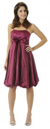 Cheap Magenta Bubble Dress Short Formal Magenta Cocktail Party Gown | DiscountDressShop.com 5564PO