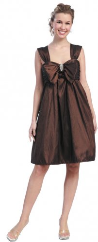Brown Bubble Dress Cheap Short Brown Cocktail Party Brown Prom Gown | DiscountDressShop.com 623SB