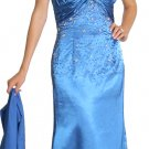 Royal Blue Formal Evening Dress Sweetheart Neckline Halter Top Beads | DiscountDressShop.com 1042JU