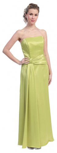 Light Green Formal Dress Cheap Strapless Green Prom Bridesmaid Gown | DiscountDressShop.com 810SB
