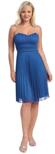 Royal Cocktail Dress Spaghetti Strap Royal Blue Short Prom Dress | DiscountDressShop.com 2051CE