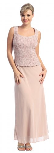Cheap Dusty Rose Mother of the Bride Groom Dress Formal Evening Gown | DiscountDressShop.com 713NX