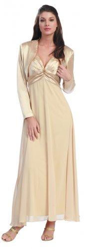 Gold Mother of the Bride/Groom Dress With Bolero Wedding Dress Gown | DiscountDressShop.com 1010NX