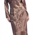 Brown Mother of the Bride/Groom Dress With Bolero Formal Dress Brown | DiscountDressShop.com 2126NX