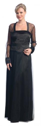 Black Mother of the Groom/Bride Dress Black Formal Evening Gown | DiscountDressShop.com 2132NX
