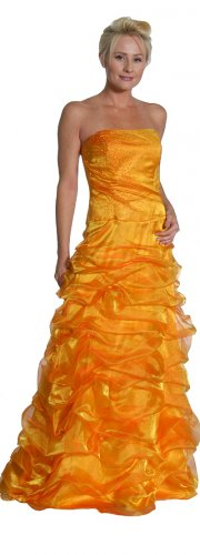 Dark Orange Strapless Formal Dark Orange Pageant Dress Prom Dresses | DiscountDressShop.com 1033JU