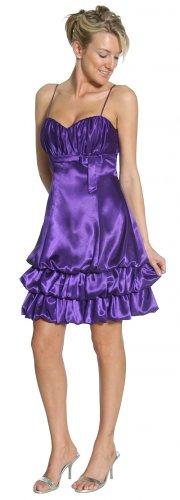 Purple Bubble Dress Cocktail Discount Purple Empire Waist Dress | DiscountDressShop.com 2158JU