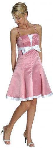 Dusty Rose White Cocktail Dress Cheap Spaghetti Strap Discount Dress | DiscountDressShop.com 2152JU
