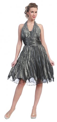 Cheap Gray Party Dress Halter Style Gray Cocktail Gray Prom Dress | DiscountDressShop.com 609SB