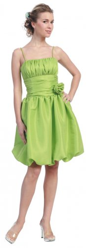 Cheap Lime Green Bubble Dress Lime Green Cocktail Dress Prom Dress | DiscountDressShop.com 618-1SB