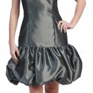 Gray Bubble Dress Strapless Gray Cocktail Dress Party Prom Dress | DiscountDressShop.com 636SB