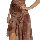 Sexy Brown Party Dress Strapless Brown Tube Dress Cocktail Gown | DiscountDressShop.com 2104JU