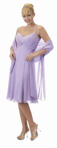 Lilac Spaghetti Strap Multi-Chiffon Lilac Cocktail Party Prom Dress | DiscountDressShop.com 5537PO