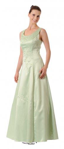 Sage Bridesmaid Dress Satin Plus Size Sage Dress Formal Prom Gown | DiscountDressShop.com 2680PO