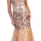 Cheap Gold Brown Strapless Formal Dress With Multi-Color Sequins | DiscountDressShop.com 176CD