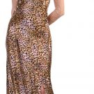 Animal Leopard Print Formal Dress With Open Leg Slit Prom Dress | DiscountDressShop.com 122CD