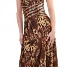 Leopard Animal Print Cheap Formal Print Dress With Matching Sequins | DiscountDressShop.com 123CD