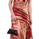 Unique Marble Print Design Dress With Rhinestones Prom Dress Formal   DiscountDressShop.com 172CD