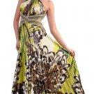 Cheap Green Flower Print Prom Dress Formal Open Back   DiscountDressShop.com 180CD