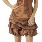 Brown Cocktail Dress Cheap Bubble Dress Brown Prom Dress Discount | DiscountDressShop.com 2892PO