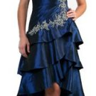 Royal Blue Prom Dress Strapless Short Knee Length Cocktail Dress | DiscountDressShop.com 146CD