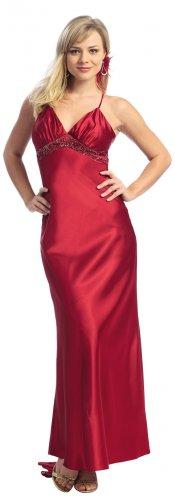 Dark Red Prom Dress Spaghetti Strap Formal Dress Red Cocktail Dress | DiscountDressShop.com 2133NX