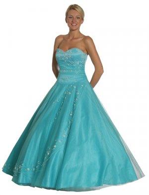 Aqua Princess Dress Strapless Aqua Ballroom Aqua Quinceanera Dresses | DiscountDressShop.com 1067JU