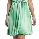 Cheap Green Bubble Dress Green Formal Dress Green Cocktail Prom Gown | DiscountDressShop.com 2040CE