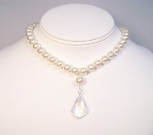 Audreana Pearl and Crystal Baroque Necklace