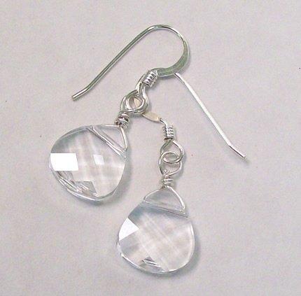 Clear Swarovski Briolette Teardrop Earrings