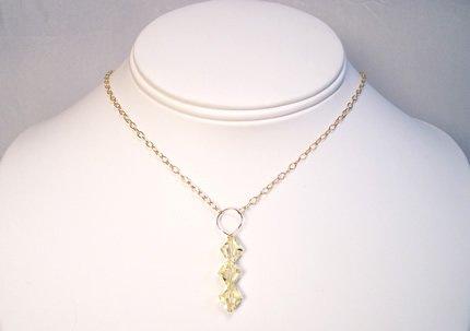 Jonquil Swarovski Crystal Drop Necklace - Sterling Silver