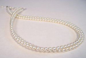 Double Strand Pearl Necklace - Wedding Necklace - Bridesmaid Necklace