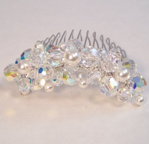 Heather Crystal Hair Comb - Wedding Hair Comb - Jewelry Accessory