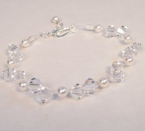 Fionna Crystal and Pearl Illusion Bracelet